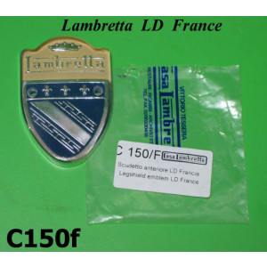 Front plastic legshield badge Lambretta LD France