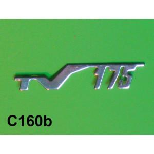 'TV175' legshield badge for Lambretta S1 + S2 (Vers.1)