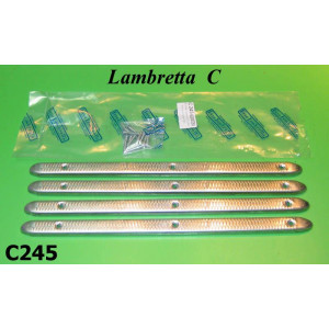 Complete aluminium floor runner strips + fixing kit set Lambretta C125