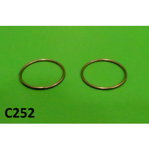 Pair of (stainless) rings for securing panel handle mechanism rubbers