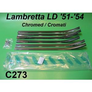 Kit listelli poggiapiedi cromati + viteria per Lambretta LD125 (1951- 1954)