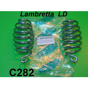 Pair of chromed biconical front seat springs Lambretta LD