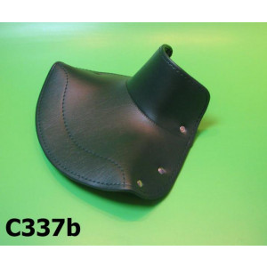 FRONT black seat cover with OPEN front (22cm dist. between springs) for Lambretta LD '57