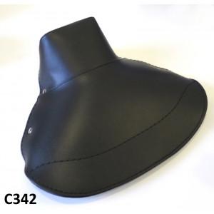 Copertina sella singola, nera, per Lambretta S1 + S2 + S3
