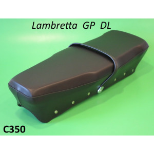 Complete high quality Italian made dual seat (+ rear catch) for Lambretta GP DL