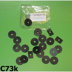 Complete bodywork rubber anti-vibration washer set