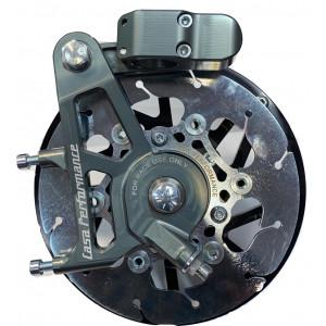 Casa Performance CasaDisc hydraulic front brake kit - Titanium - Lambretta S1 + S2 + TV2 + S3 + TV3 + Special + SX + DL + Serveta