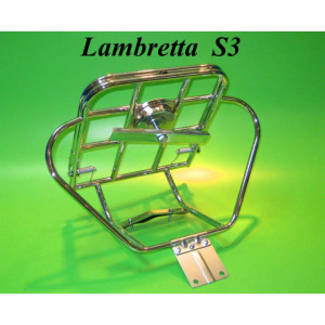Upright rear carrier & spare wheel holder (Deluxe model) Lambretta S3 + GP DL + Serveta