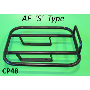 NEW PRODUCT! Rear AF 'S' Type style carrier for Lambretta S3 + GP DL + Serveta (black)
