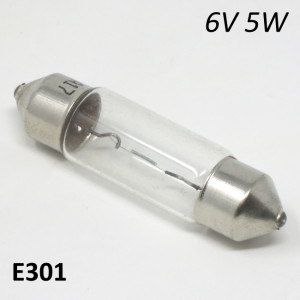 6V 5W torpedo festoon bulb for headlight, medium size