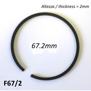 67.2mm (2.0mm thick) high quality original type piston ring