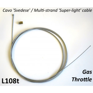 High quality Italian made multi-strand 'Super Light' throttle inner cable