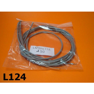 Inner and outer cables set (grey) for Lambretta J 50-100-125cc