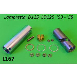 Complete throttle kit (for aluminium handlebars) Lambretta D125 LD125 '53 - '55