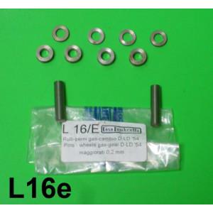 Teleflex type handlebars gearchange + throttle control pins & rollers set 0.2mm OVERSIZED