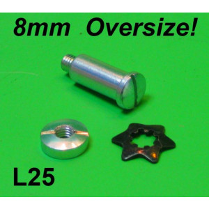 1mm Oversized lever pin + nut + star washer