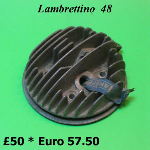 ORIGINAL cylinder head (with decompressor) Lambrettino 48 1st. series