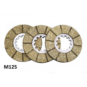 Set of clutch plates