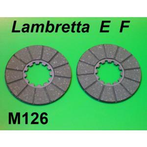 Pair of clutch plates Lambretta E F