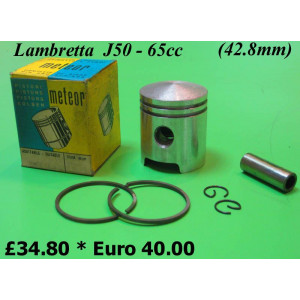 Complete 65cc conversion piston for Lambretta 50cc (42.8mm)