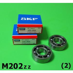 Pair of high quality front hub bearings for all Lambretta models (EXCEPT Lambrettino 48 / E / F)