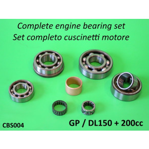 Complete high quality engine bearing set for Lambretta GP / DL150+ 200cc