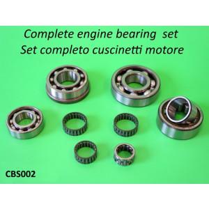 Complete engine bearing set for Lambretta 125cc + 150cc + 175cc + 200cc (NO TV175 S1 + GP DL!)