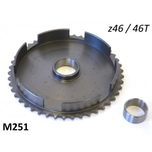 46T clutch bell crownwheel sprocket for Lambretta J50 Vers.1