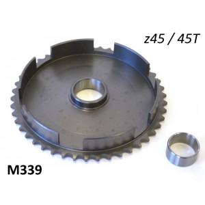45T clutch bell crownwheel sprocket for Lambretta J50 Deluxe + J50 Special