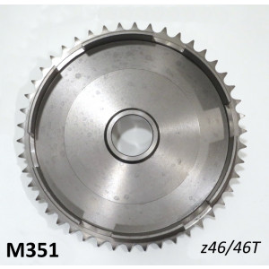 46T clutch bell sprocket crownwheel for Lambretta Lui Vega Cometa 75cc