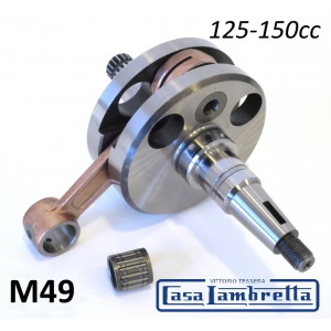 Complete (small cone type) crankshaft for Lambretta S1 + S2 + S3 + Serveta 125 / 150cc