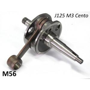 Complete crankshaft for Lambretta Cento + J125 M3 + 'CP One35' (3 speed models)
