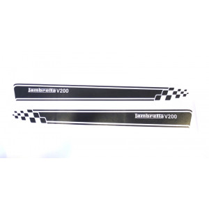 Set of high quality MATT BLACK sidepanel speed stripes for New Lambretta V Special