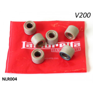 Set of variator rollers (std. weight) for Lambretta V200 Special