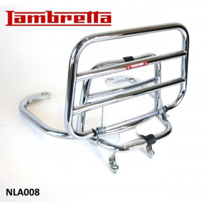 New Version! Chrome upright rear carrier accessory for Lambretta V-Special