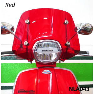 High quality Casa Performance Sports screen for Lambretta V-Special (Red)