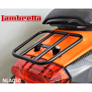 Black horizontal 'sports' rear carrier accessory for Lambretta V-Special