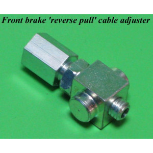 Reverse pull front brake cable adjuster