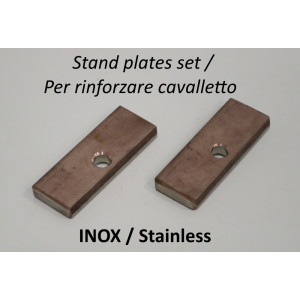 Pair of stainless steel stand strengthening plates (for central frame strut).