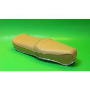 Beige Pegasus 'flatbase' seat for Lambretta S1 + S2 (LOW fronted version) + Series 3