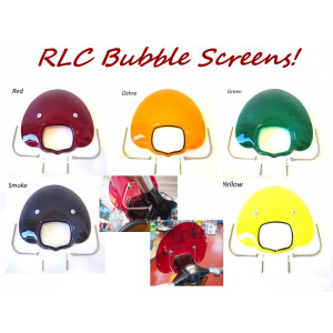 Complete '70's style 'Bubble' flyscreen for Lambretta GP DL (choice of colours)