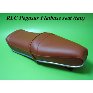 Brown (tan) Pegasus 'flatbase' seat for Lambretta S3 (HIGH fronted version) + Series1 & 2