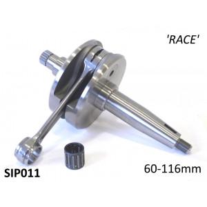 SIP crankshaft large cone GP / DL 'RACE' version 60mm stroke / 116mm conrod