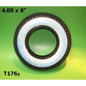 "4.00 x 8"" inch whitewall 'Mitas' tyre"