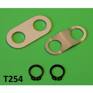 Special spring clip + fixing plate + 2 x seegers set for brake shoes Lambretta S1 + S2 + TV2 + S3 +TV3 + Special + SX + Serveta