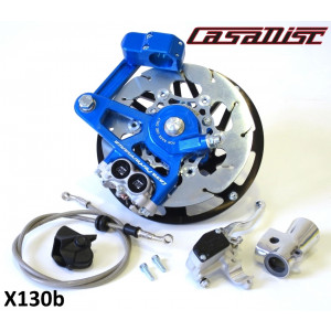 Casa Performance CasaDisc hydraulic front brake kit - Anodised blue - Lambretta S1 + S2 + TV2 + S3 + TV3 + Special + SX + DL + Serveta