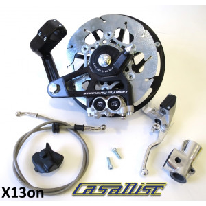 Casa Performance CasaDisc hydraulic front brake kit - Black - Lambretta S1 + S2 + TV2 + S3 + TV3 + Special + SX + DL + Serveta
