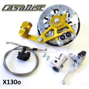 Casa Performance CasaDisc hydraulic front brake kit - Anodised Gold - Lambretta S1 + S2 + TV2 + S3 + TV3 + Special + SX + DL + Serveta