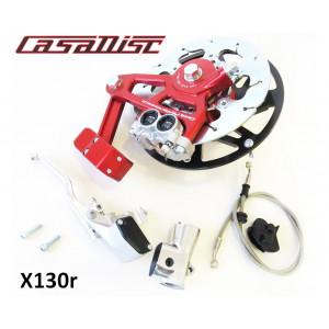 Casa Performance CasaDisc hydraulic front brake kit - Anodised Red - Lambretta S1 + S2 + TV2 + S3 + TV3 + Special + SX + DL + Serveta