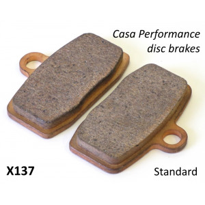 Pair of STANDARD pads for Casa Performance hydraulic disc brakes X130 + X142
